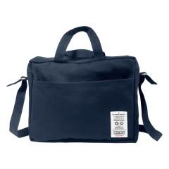 The Organic Company - skuldertaske - stor - mørk blå