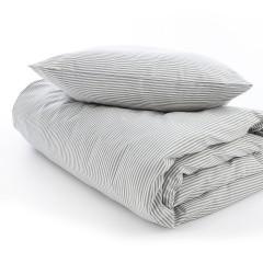 VivaTex - sengesæt - voksen størrelser - grå stribe