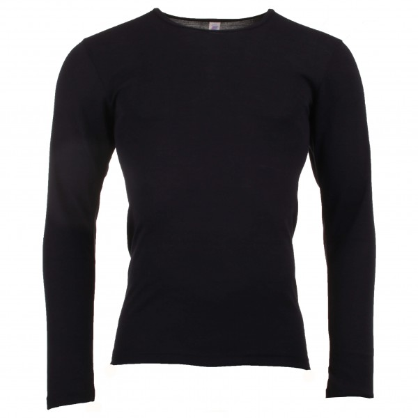 e0fd857d Engel herre langærmet t-shirt i økologisk uld and silke sort-20